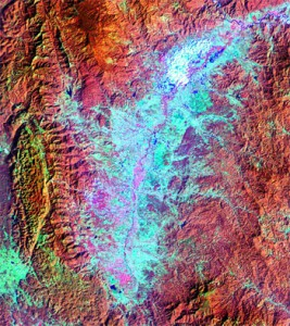 Landsat TM image of the Fang Basin, northern Thailand
