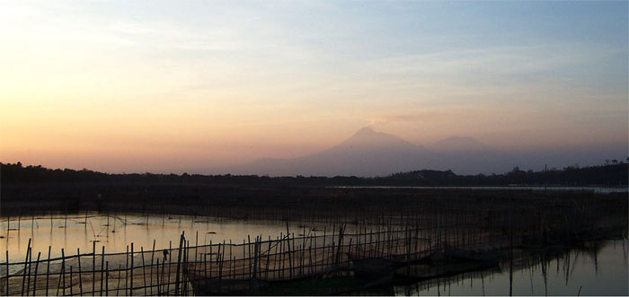 View of Mount Merapi, East Java