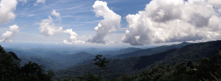 View of the Crocker Ranges, Sabah, NE Borneo