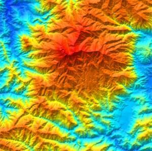 High resolution DEM of Mount Kinabalu,Sabah