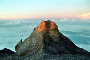 View from summit of Mt Kinabalu, Sabah