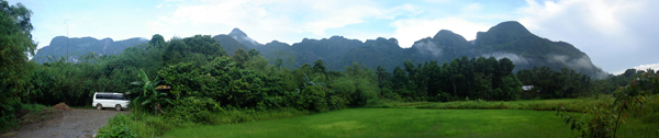 Karst limestone hills, Central Palawan
