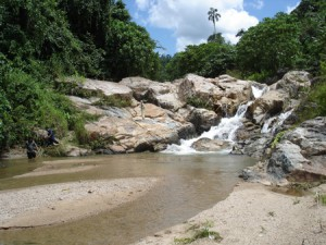 Spectacular granite outcrop on the Pergua River,  Peninsula Malaysia