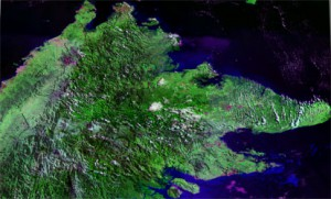 Satellite image of Sabah, NE Borneo