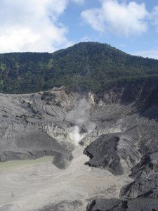 Modern day volcanism on the outskirts of Bandung, Java