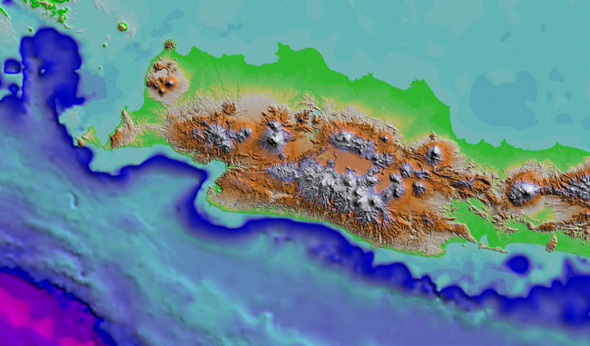 SRTM DEM of West Java